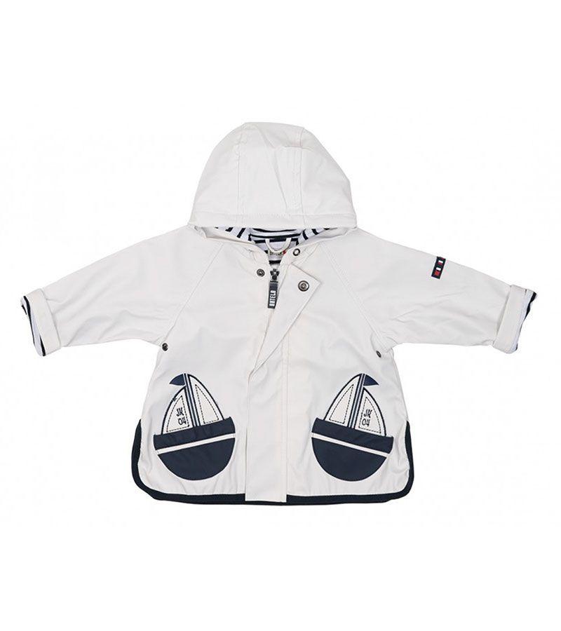 impermeable bebe batela 3105 blanco 1