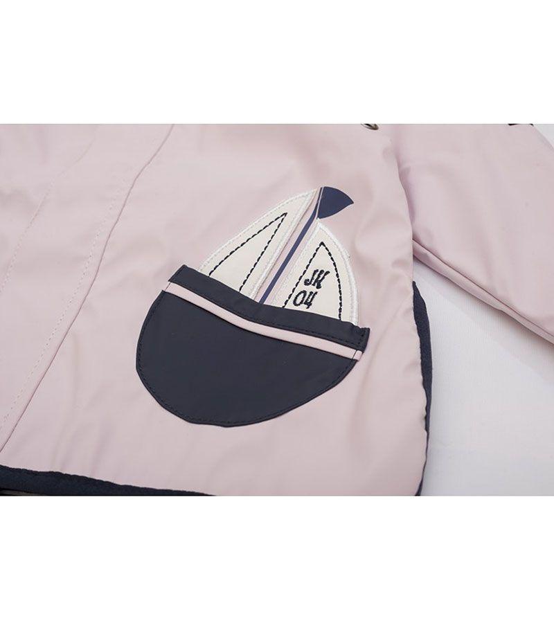 impermeable bebe batela 3105 rosa palo 2