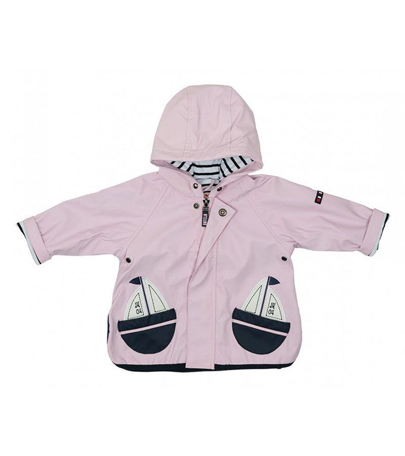 impermeable bebe batela 3105 rosa palo 1