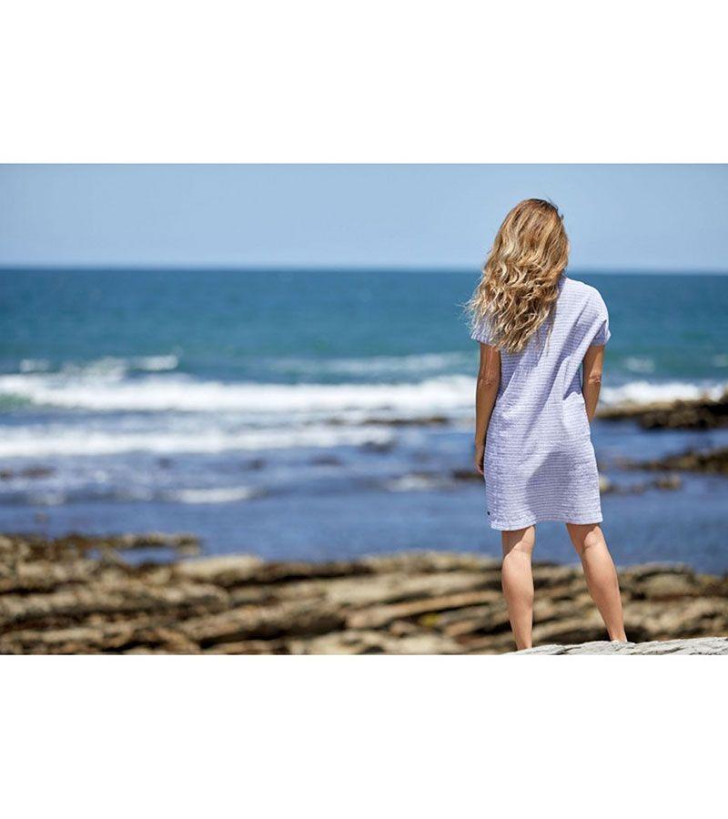vestido manga corta 2022 batela gris blanco 2