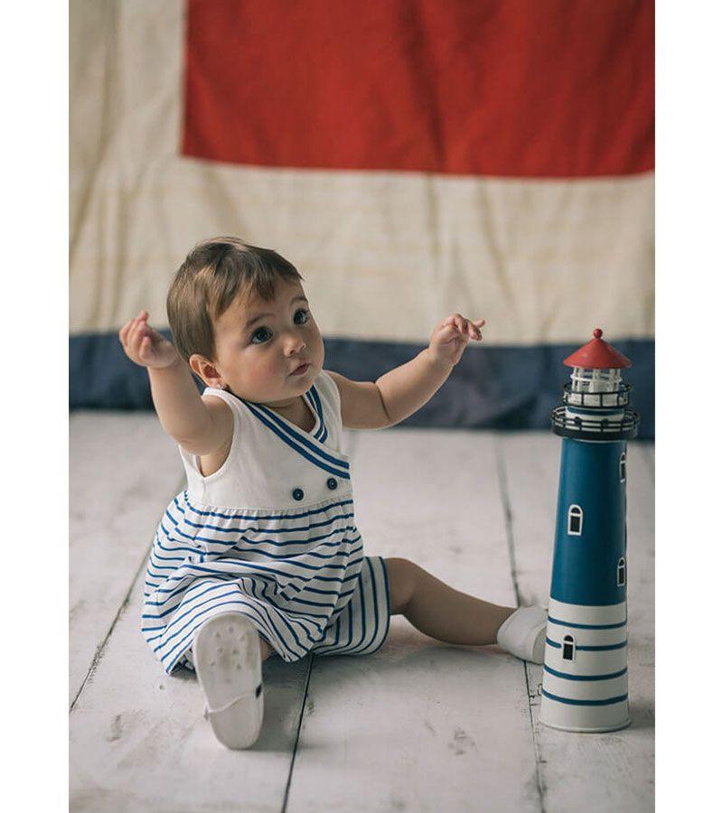 vestido bebe batela 2320 blanco marino 2