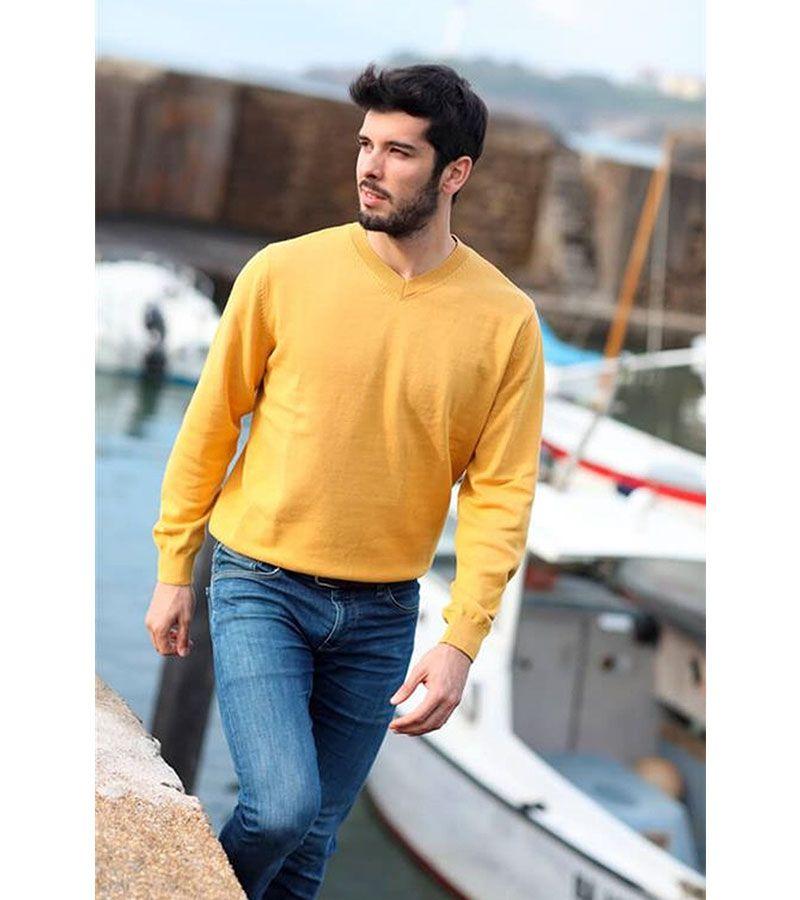 jersey hombre batela 3309 amarillo 1