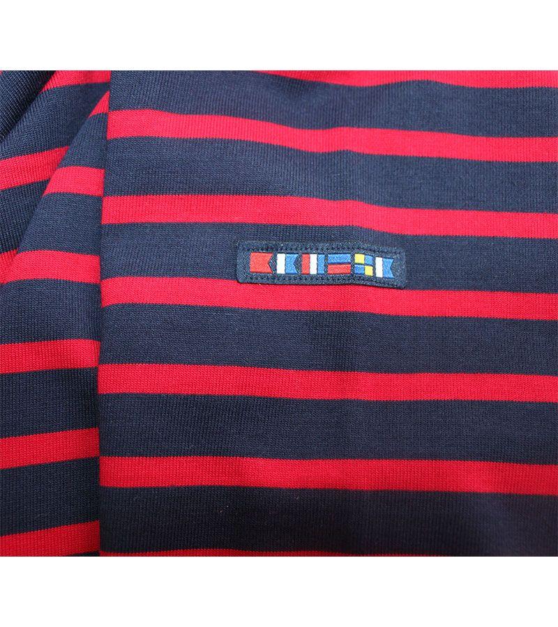 camiseta hombre batela 2060 marino rojo 5