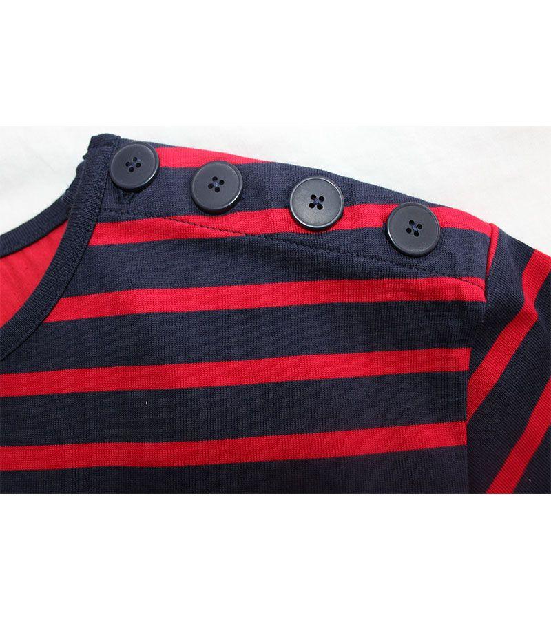 camiseta hombre batela 2060 marino rojo 4