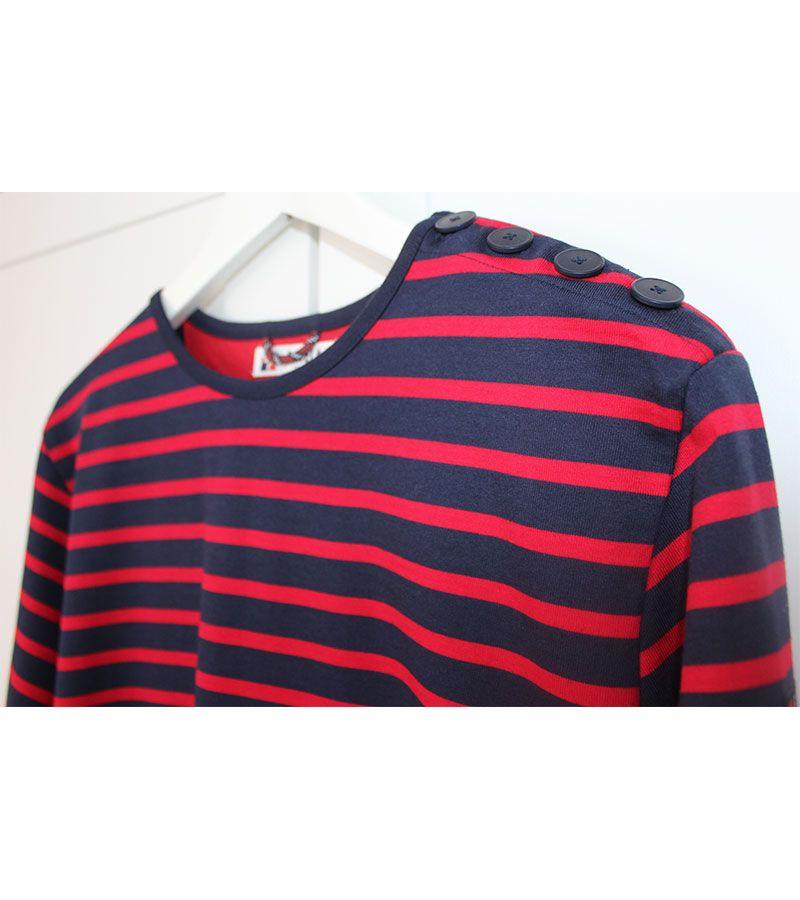 camiseta hombre batela 2060 marino rojo 3