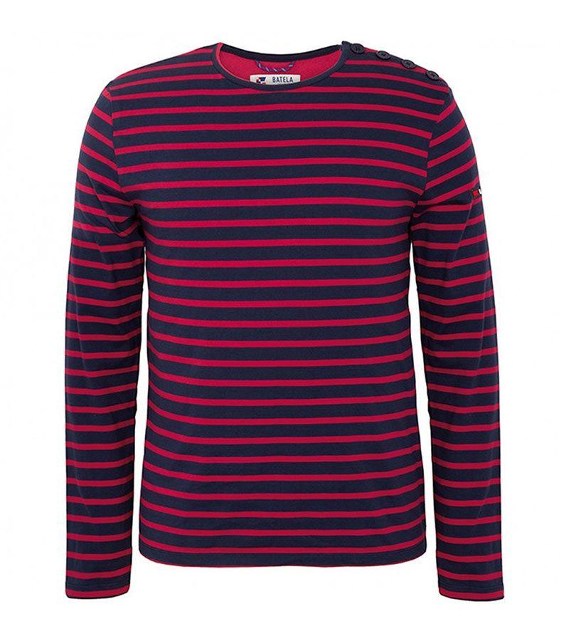 camiseta hombre batela 2060 marino rojo