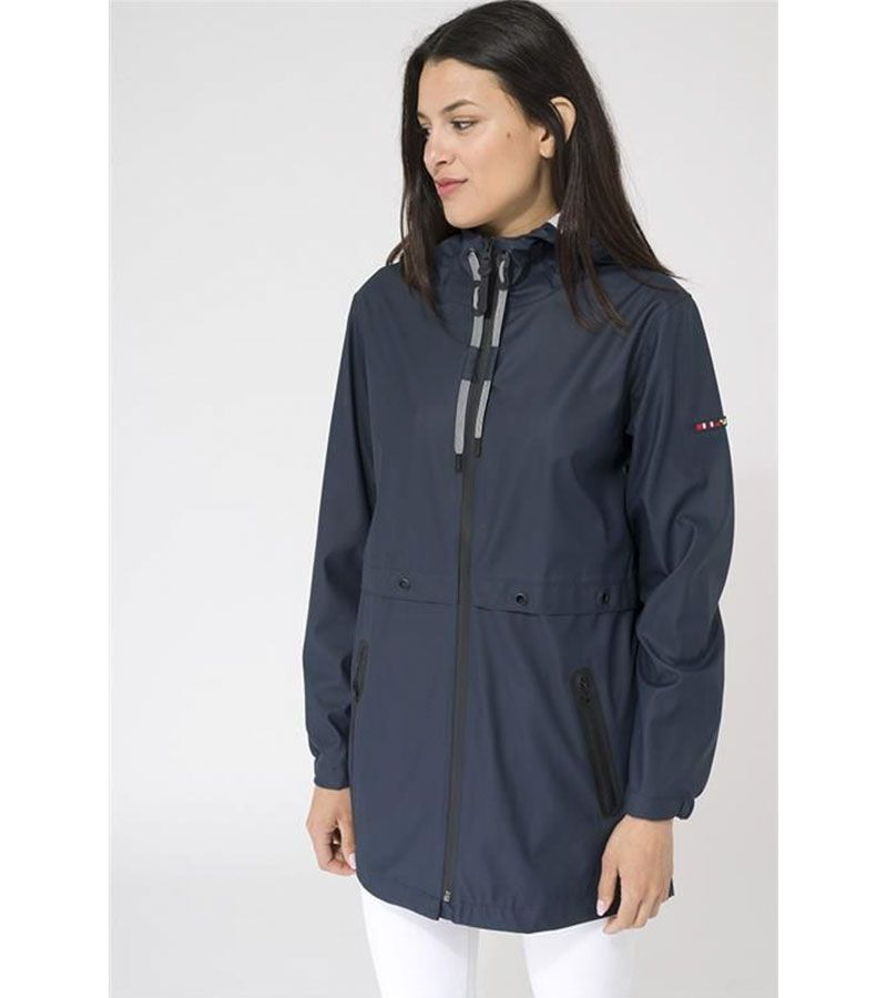 impermeable mujer marino