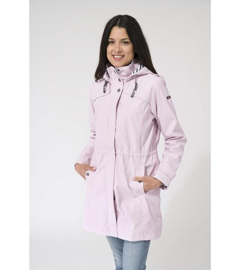 impermeable rosa mujer