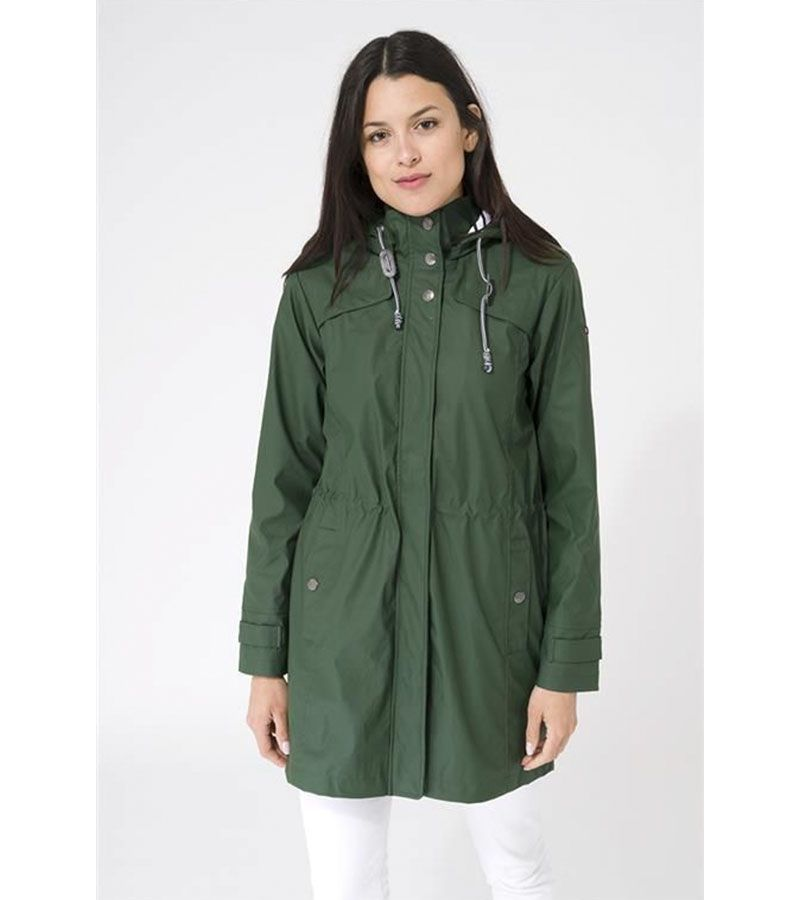 impermeable verde mujer