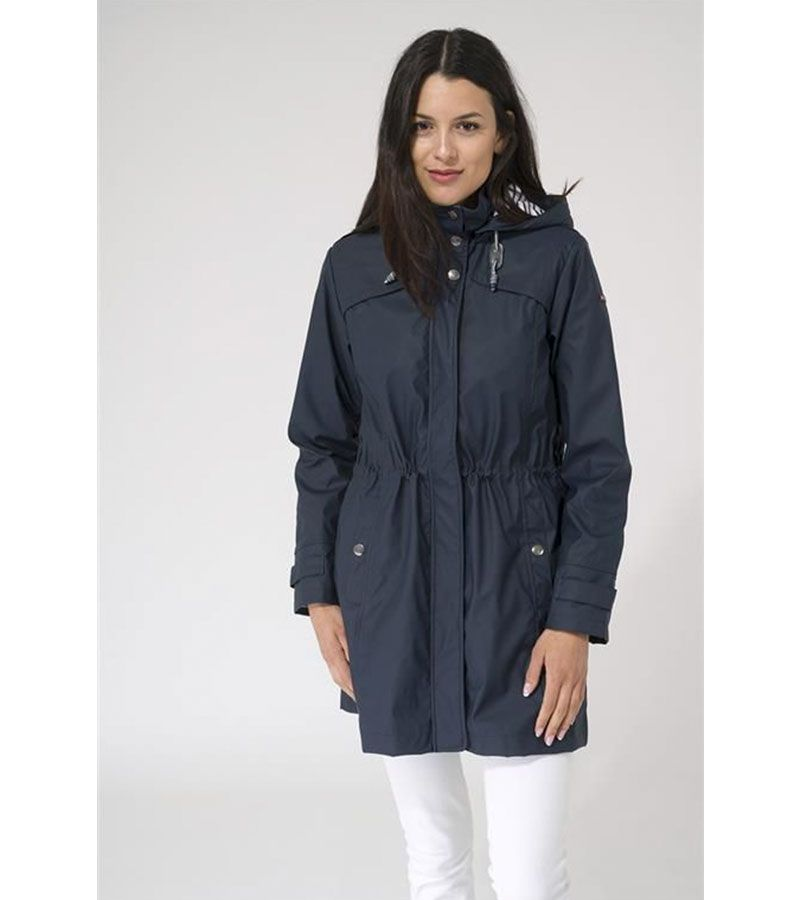 impermeable marino mujer