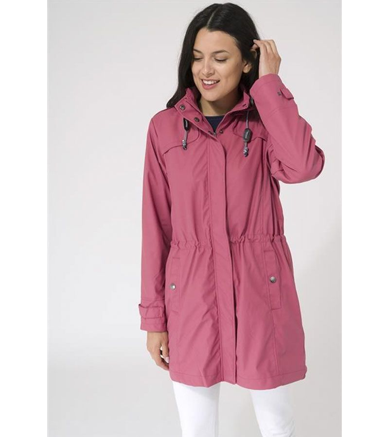 impermeable mujer rosa