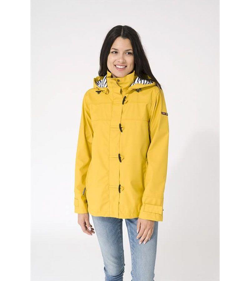 impermeable mujer amarillo batela