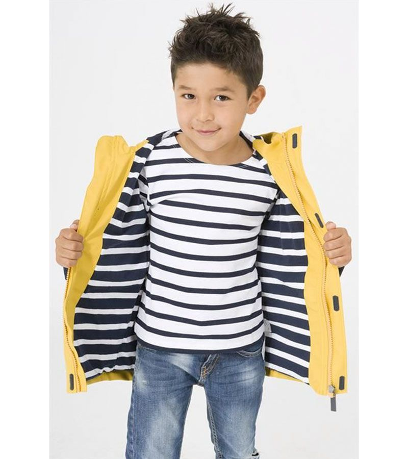 impermeable nino amarillo
