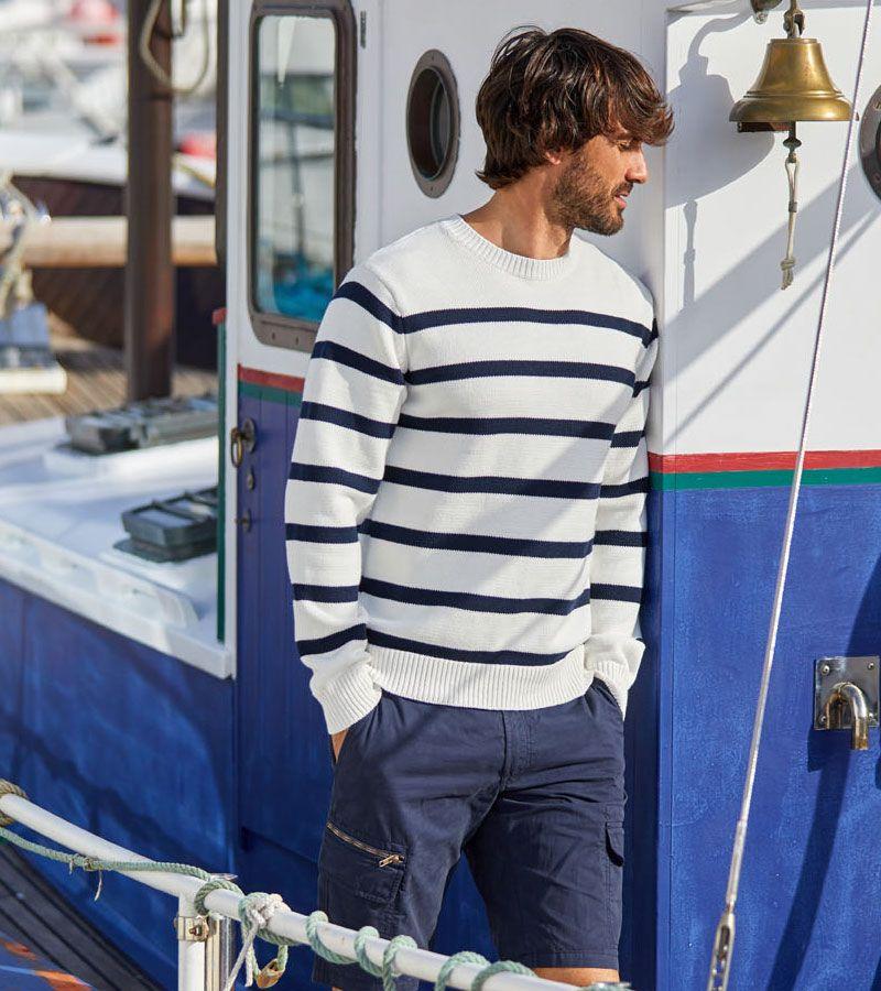 jersey hombre marino blanco rayas 3386 1