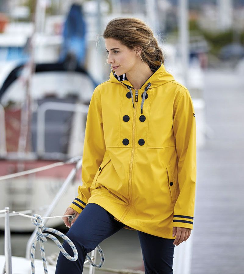 impermeable nautico mujer batela amarillo 3058 2