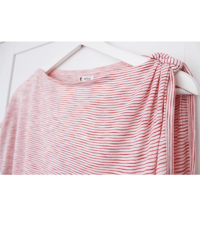 camiseta batela hombro 2190 rojo 2