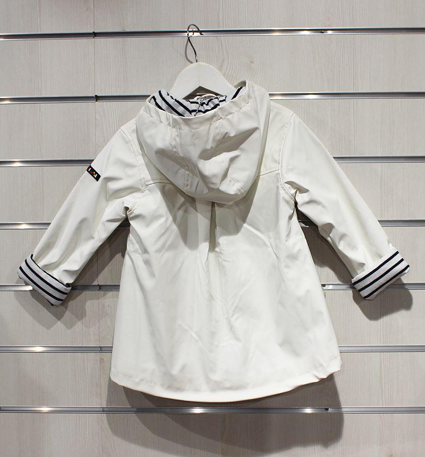impermeable nina batela color blanco 3121 trasera