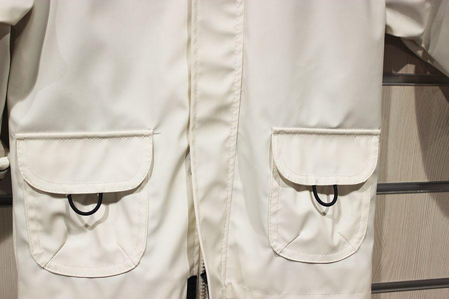 impermeable unisex ninos batela color blanco 3120 bolsillos