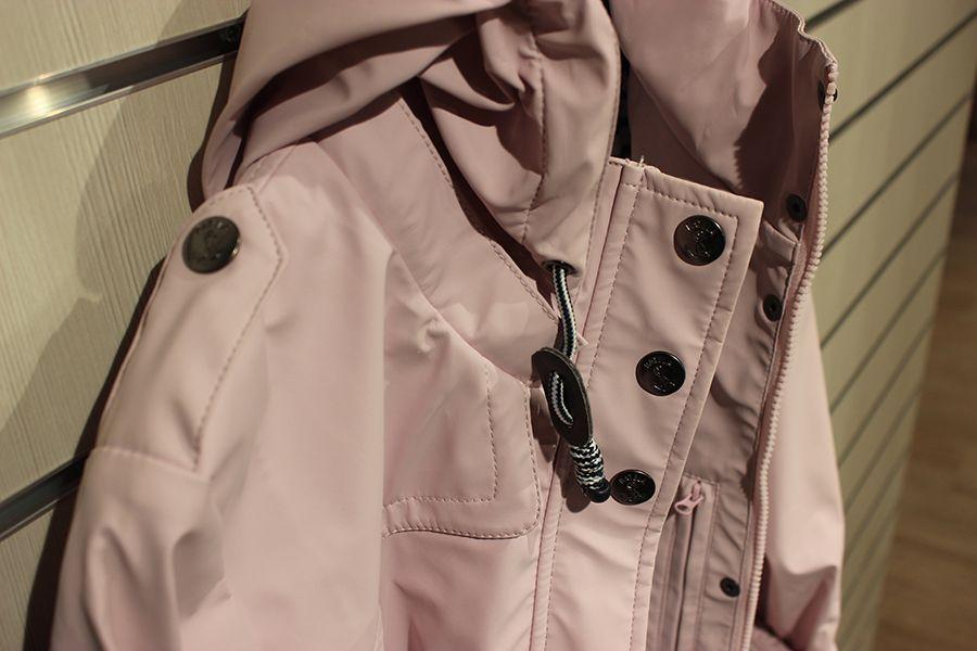 impermeable nautico mujer largo batela rosa 3044 capucha