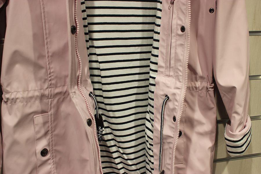 impermeable nautico mujer largo batela rosa 3044 cintura